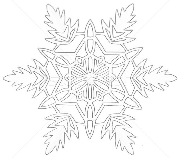 Flocon de neige papier blanche hiver froid Photo stock © marylooo