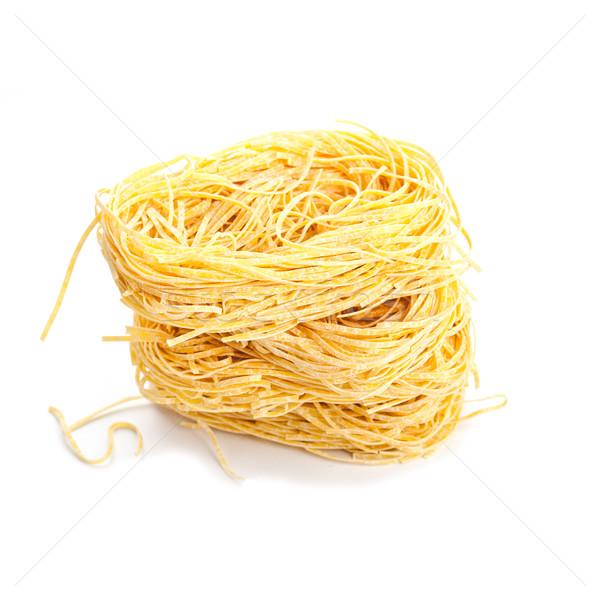 Foto stock: Huevo · pasta · aislado · blanco · trigo · comer