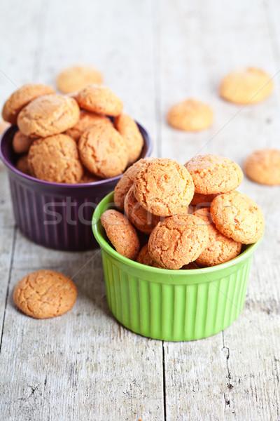 meringue almond cookies in bowls Stock photo © marylooo
