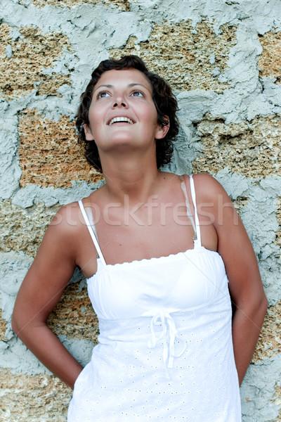 beautiful brunet woman Stock photo © marylooo