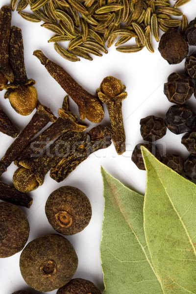 bay leaves, cloves and black pepper Stock photo © marylooo