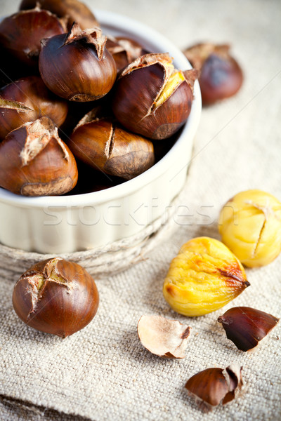 roasted chestnuts in bowl  Stock photo © marylooo