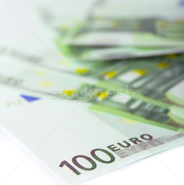 Euro bankbiljetten business papier bank Stockfoto © marylooo