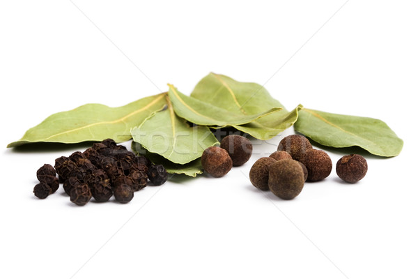 bay leaves and pepper Stock photo © marylooo