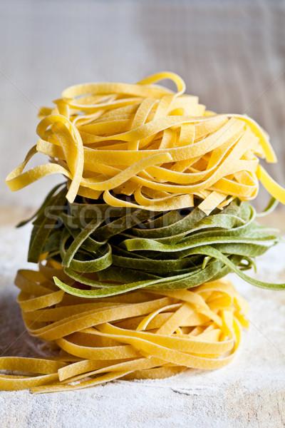 Italiaans pasta tagliatelle voedsel Stockfoto © marylooo