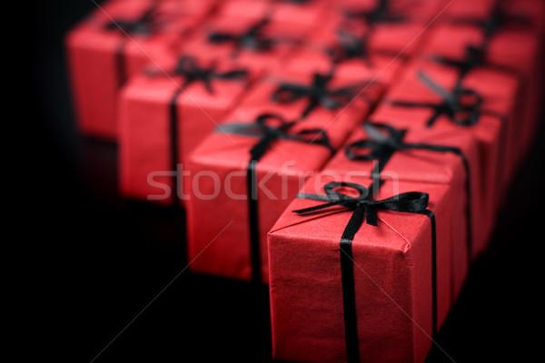 Molti rosso nero carta amore Foto d'archivio © marylooo