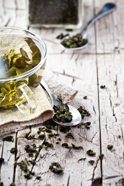 Stock photo: cup of green tea