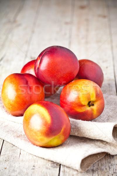 新鮮な 素朴な 木板 食品 フルーツ オレンジ ストックフォト © marylooo
