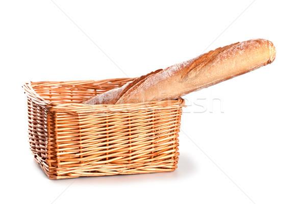 свежие багет корзины белый продовольствие группа Сток-фото © marylooo