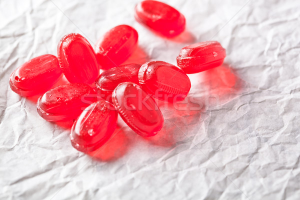 heap of red candies Stock photo © marylooo