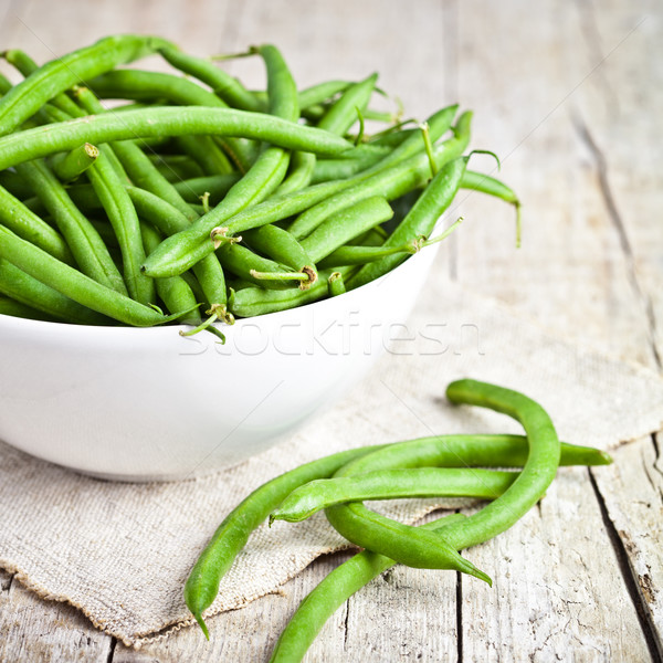green string beans in a bowl  Stock photo © marylooo