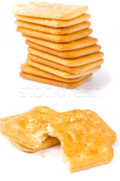 Roto cookies primer plano fondos blancos paz comer Foto stock © marylooo