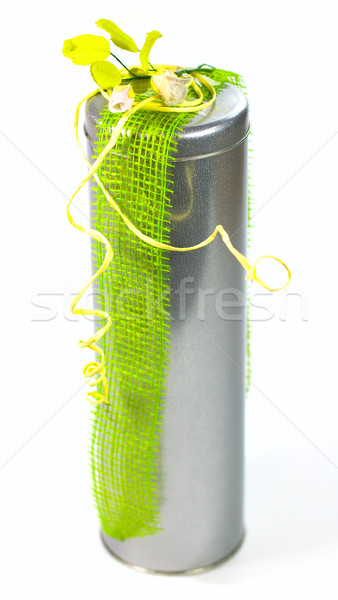 metal gift box with beautiful decoration Stock photo © marylooo