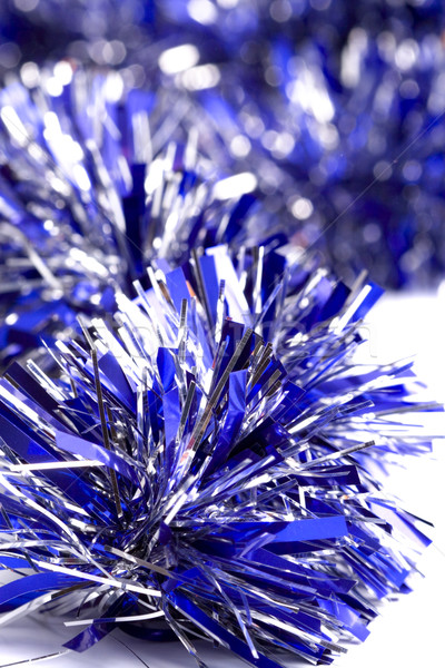 blue christmas tinsel Stock photo © marylooo