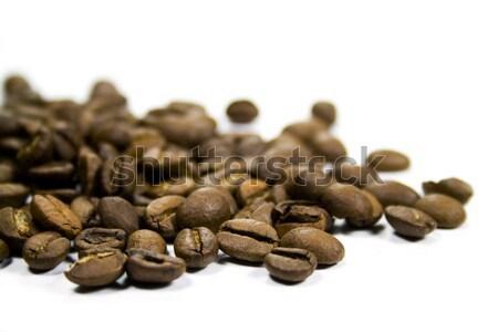 コーヒー 豆 クローズアップ 白 コーヒー ドリンク ストックフォト © marylooo