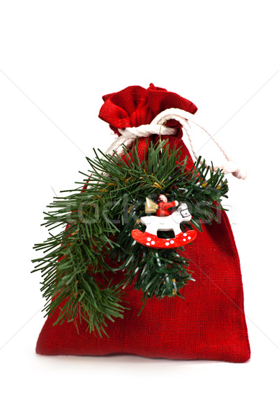bag of x-mas gifts Stock photo © marylooo