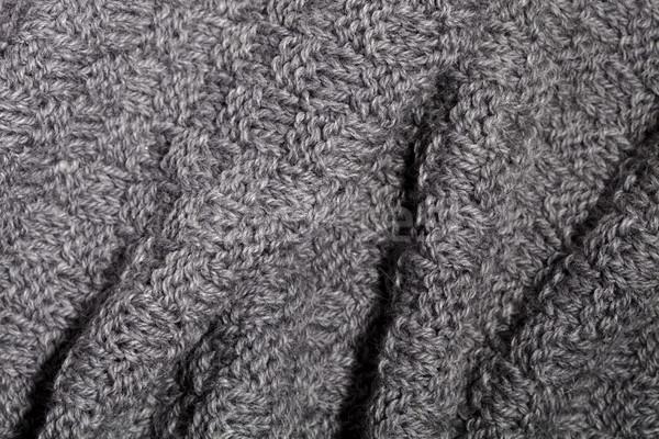 knitted grey scarf Stock photo © marylooo