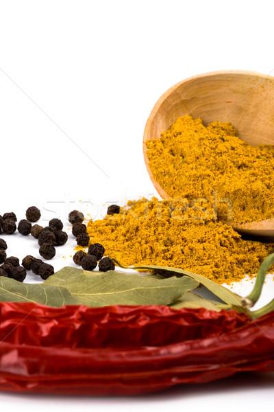 épices étriller poivre laisse blanche Photo stock © marylooo