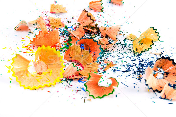 Stock photo: pencils sawdust background