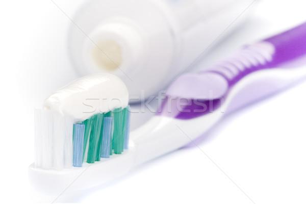 Dentifricio spazzolino bianco cura dei denti bellezza medicina Foto d'archivio © marylooo