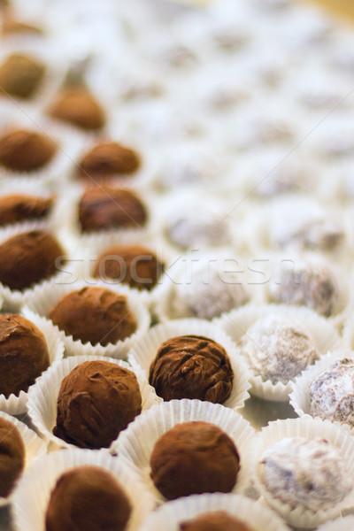 チョコレート 食品 背景 白 デザート ストックフォト © marylooo
