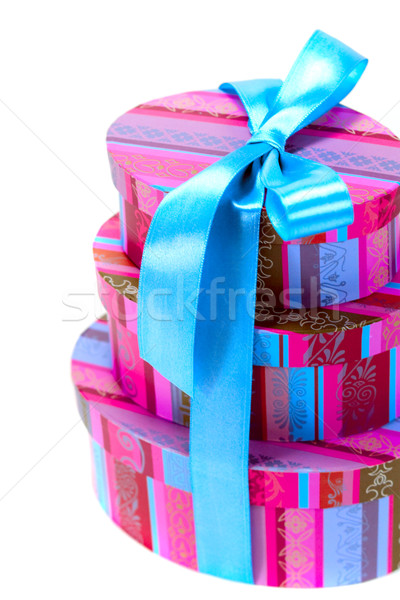 pyramid of colorfull gift boxes Stock photo © marylooo