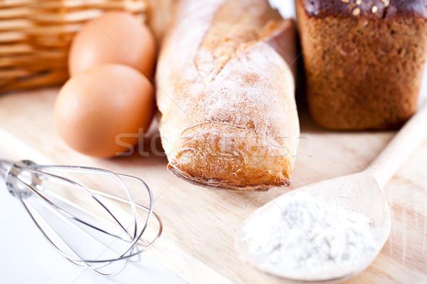 Pane farina uova utensile da cucina ancora vita Foto d'archivio © marylooo