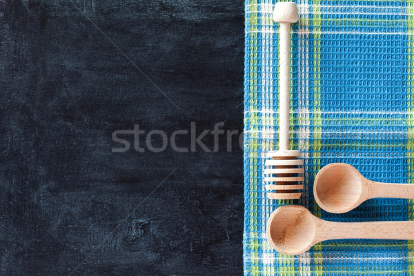 kitchen utensil and tablecloth  Stock photo © marylooo