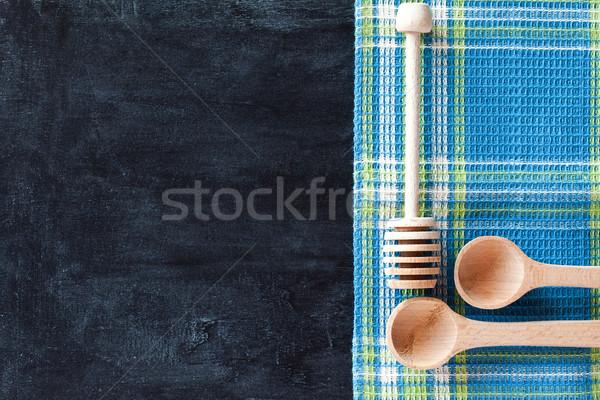 скатерть доске древесины таблице зеленый Сток-фото © marylooo