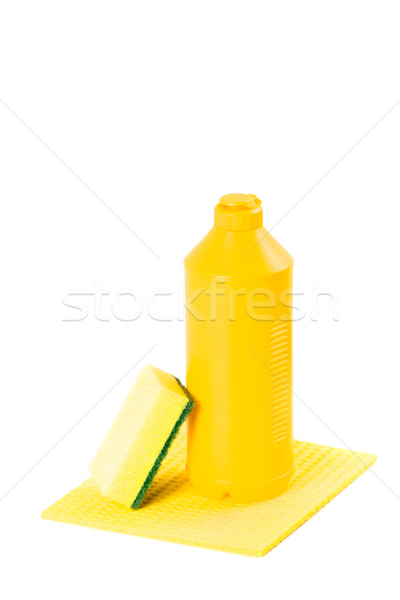 Produktów czyszczenia żółty odizolowany biały zielone Zdjęcia stock © marylooo