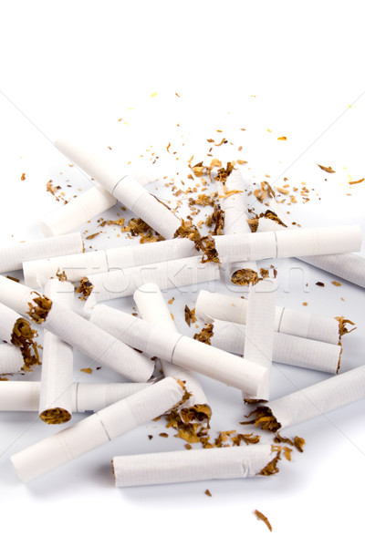 Stock photo: broken cigarettes