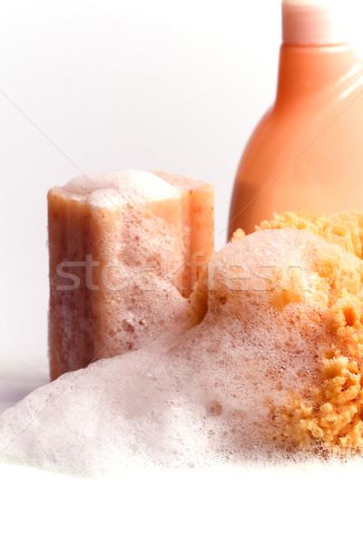 Sabun doğal sünger duş jel Stok fotoğraf © marylooo