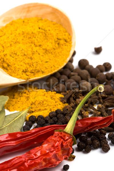 épices étriller poivre laisse Photo stock © marylooo