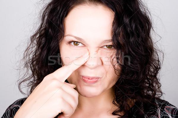 grimacing funny woman Stock photo © marylooo