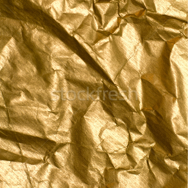 wrinkled golden paper Stock photo © marylooo