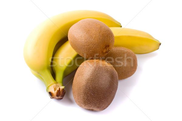 Vers kiwi banaan witte groep vruchten Stockfoto © marylooo
