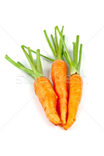 Carotte légumes laisse isolé blanche alimentaire Photo stock © marylooo