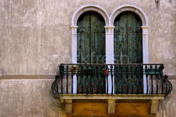 Сток-фото: итальянский · балкона · цветы · дома · стены · домой