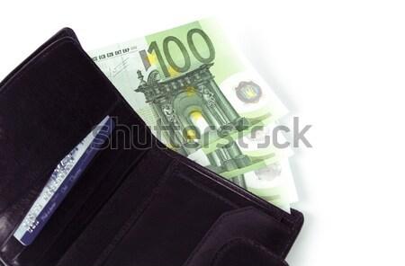 euro and purse Stock photo © marylooo