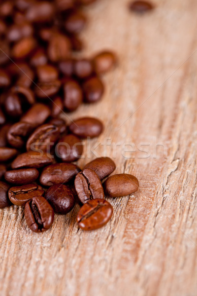 Foto d'archivio: Fresche · chicchi · di · caffè · rustico · macro · immagine