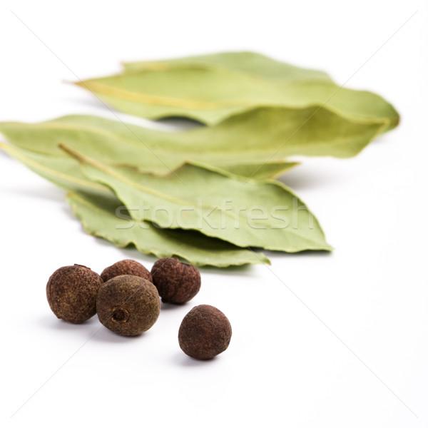 bay leafs and black pepper Stock photo © marylooo