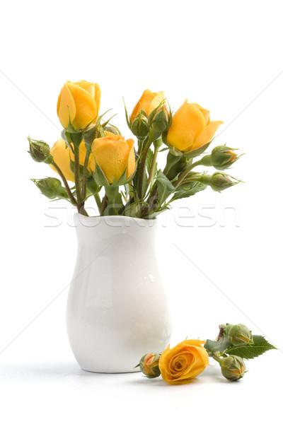 Fleurs jaunes bouquet blanche fleur printemps mariage Photo stock © marylooo