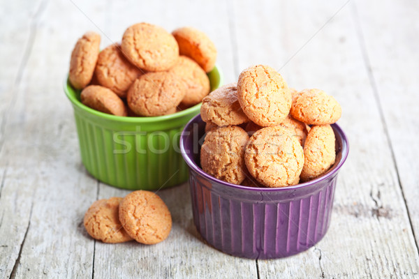 миндаль Cookies кегли Sweet сахар Сток-фото © marylooo