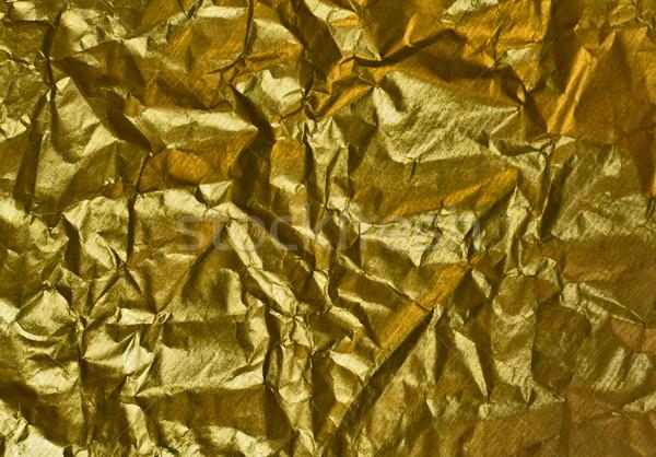 Ráncos arany papír absztrakt háttér csomag Stock fotó © marylooo