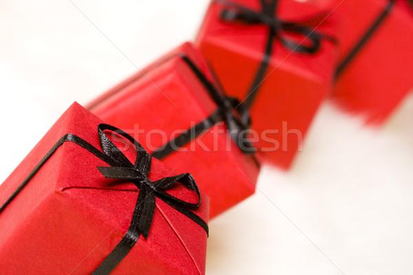 Rood witte bont papier verjaardag Stockfoto © marylooo