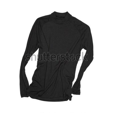 Negro cuello de tortuga aislado blanco moda hombres Foto stock © marylooo