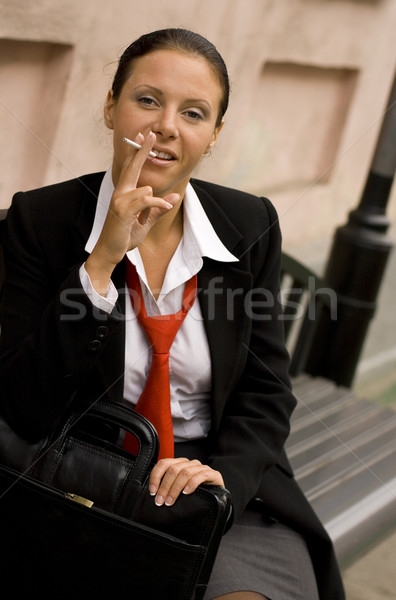businesswoman with sigarette Stock photo © marylooo