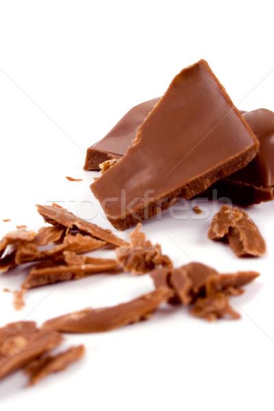 broken milk chocolate Stock photo © marylooo