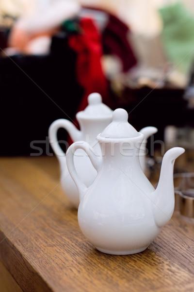 Twee keramische kunst tabel markt Europa Stockfoto © marylooo