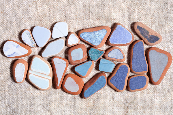 pieces of colorful tiles polished by the sea  Stock photo © marylooo